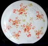 90/1185/Декупаж-Чинии-Чиния с дребни червени цветя