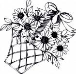 23/119/Дизайнерски печати и надписи за картички-Цветя-Печат на кошничка с цветя 2