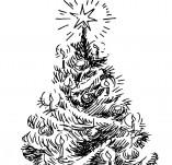 25/121/Дизайнерски печати и надписи за картички-Нова Година-Печат на елха 1