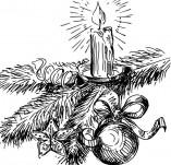 25/124/Дизайнерски печати и надписи за картички-Нова Година-Печат на свещник 1