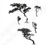 91/1243/Дизайнерски печати и надписи за картички-Направи си картина-Печат на дървета за рисуване на картички