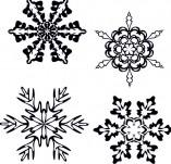 25/125/Дизайнерски печати и надписи за картички-Нова Година-Снежинки
