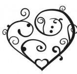 100/1293/Дизайнерски печати и надписи за картички-Сърчица-Сърце малко