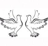 21/1294/Дизайнерски печати и надписи за картички-Романтика-Гълъби