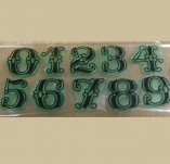 76/1297/Дизайнерски печати и надписи за картички-Надписи на български-Цифри 5