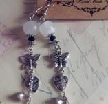136/1317/Бижута-Обеци - ръчно изработени-Обеци - White beauty butterflies