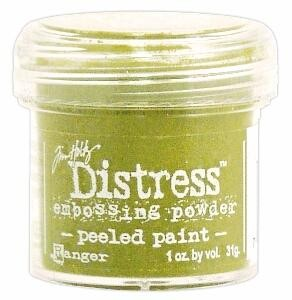 distress embossing powder peeled paint hand made cards 1382