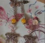 136/1391/Бижута-Обеци - ръчно изработени-Обеци Butterflies Earrings