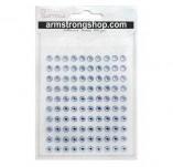 142/1405/Eлементи за картички и украси-Самозалепващи камъчета-ADHESIVE STONES 6mm 100 бр BABY BLUE Самозалепващи камъчета