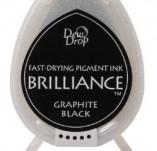 144/1419/Mастила, почистващи средства-Пигментни мастила-BRILLIANCE пигментни тампони Graphite Black