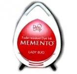 57/1421/Mастила, почистващи средства-Мементо-MEMENTO DEW DROP Тампон с ярък отпечатък LADY BUG