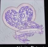 145/1437/Картички-Романтични картички-Лилава песен