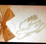 145/1439/Картички-Романтични картички-Покана с цветя и панделка