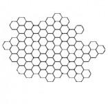 75/1446/Дизайнерски печати и надписи за картички-Фонови печати-Печат на пчелна пита