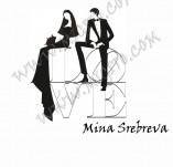 21/1580/Дизайнерски печати и надписи за картички-Романтика-LOVE