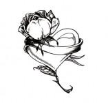 100/1696/Дизайнерски печати и надписи за картички-Сърчица-Печат на сърце с роза 1