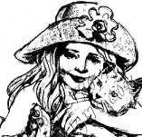 20/17/Дизайнерски печати и надписи за картички-Деца-Момиче и коте