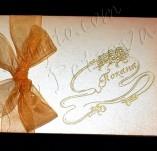 40/1757/Сватбени-Покани и картички-Покана с цветя и панделка 2