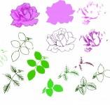 176/1774/Дизайнерски печати и надписи за картички-Многостъпкови печати-Многопластов печат на роза