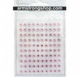 142/1778/Eлементи за картички и украси-Самозалепващи камъчета-ADHESIVE STONES 6mm 100 бр PINK Самозалепващи камъчета