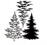 25/1806/Дизайнерски печати и надписи за картички-Нова Година-Многопластов печат на ела