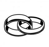 21/1807/Дизайнерски печати и надписи за картички-Романтика-Печат на пръстени