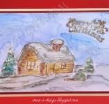 138/1824/Картички-Новогодишни картички-Новогодишна картичка с къщичка