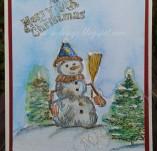138/1825/Картички-Новогодишни картички-Новогодишна картичка снежен човек