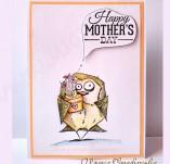 30/1836/Картички-Скрапбук-Розова картичка за осми март