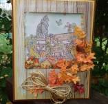 30/1842/Картички-Скрапбук-Ръчно изработена картичка с есенни мотиви