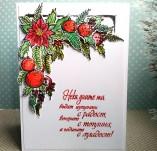 138/1847/Картички-Новогодишни картички-Поздарвителна картичка с коледна звезда