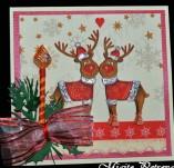138/1851/Картички-Новогодишни картички-Новогодишна картичка с еленчета