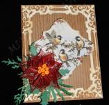 14/1853/Картички-Квилинг-Новогодишна картичка с квилинг елементи и птички