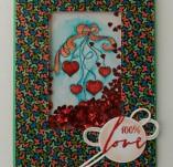 145/1874/Картички-Романтични картички-Шейкър картичка Радост