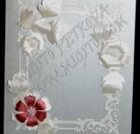 40/1911/Сватбени-Покани и картички-Сватбена картичка с перлен карто за пари и пожелания