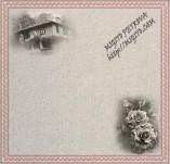 17/1954/Хартии-Дизайнерски хартии-Дизайнерска хартия с български шевици къща и роза