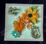 187/1977/Картички-Фолклорни картички -Фолклорна картичка със стара къща и рози
