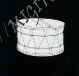 182/1995/Елементи от бирен картон и дърво-Лазерно изрязани фолклорни фигури от бирен картон -Тъпан лазерно изрязан Бирен картон