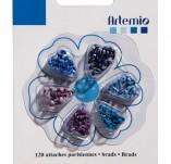 163/2039/БРАДС КАПСИ РИНГОВЕ-ARTEMIO DECO MINI BRADS к-BRADS MINI by ARTEMIO брадс 120 бр BLUE SЕRIES