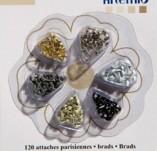 163/2040/БРАДС КАПСИ РИНГОВЕ-ARTEMIO DECO MINI BRADS к-BRADS MINI by ARTEMIO брадс 120 бр CLASSIC SERIES