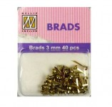 164/2042/БРАДС КАПСИ РИНГОВЕ-BRADS -BRADS 3mm 40 бр FLORAL GOLD