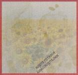 17/2069/Хартии-Дизайнерски хартии-Дизайреска хартия със слънчогледи и състаряване