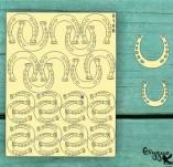 182/2100/Елементи от бирен картон и дърво-Лазерно изрязани фолклорни фигури от бирен картон -Лазерно изрязани подкови бирен картон