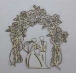 194/2107/Елементи от бирен картон и дърво-Любов Лазерно изрязани елементи -Лазерно изрязана сватба
