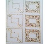183/2113/Чипборд елементи от бирен картон и дърво-Лазерно изрязани ъгли от бирен картон -Лазерно изрязани ъгли от бирен картон 3