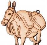 182/2119/Елементи от бирен картон и дърво-Лазерно изрязани фолклорни фигури от бирен картон -Лазерно изрязан дървен елемент магаре с дисаги