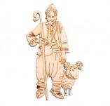 182/2121/Елементи от бирен картон и дърво-Лазерно изрязани фолклорни фигури от бирен картон -Лазерно изрязан дървен елемент овчар с гега и овен
