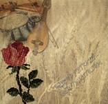 17/2125/Хартии-Дизайнерски хартии-Дизайнерска етно хартия с бродирана роза