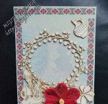187/2158/Картички-Фолклорни картички -Ръчно изработена картичка със слъночогледи шевица и фолклорни мотиви