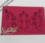 145/2163/Картички-Романтични картички-Ръчно изработнена ефирна картичка
